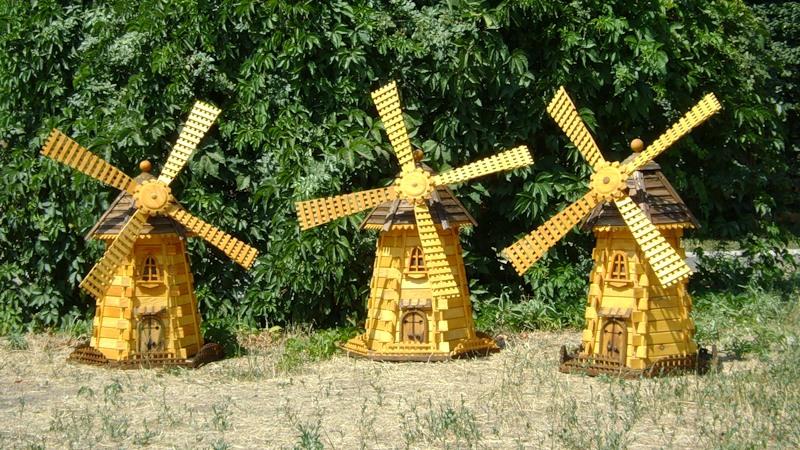 Поделки из дерева ветряная мельница 95