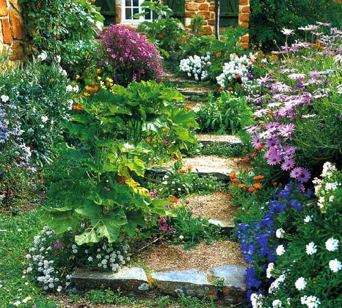 Ландшафтная  лестница в саду - Идеи для сада - 30 фото