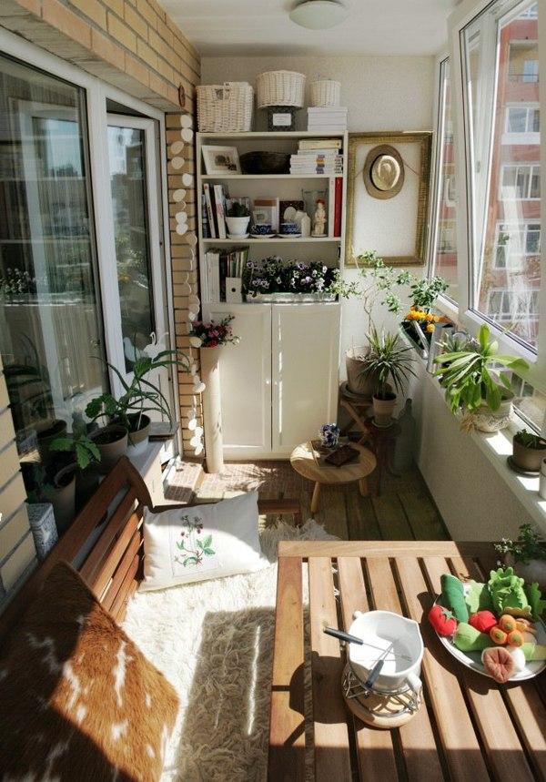 Дизайн интерьера узкого балкона - 17 идей