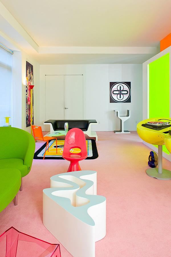Дизайн интерьера лофт дома в Нью-Йорке от Карима Рашида