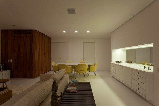 Интерьер дома 130 кв. м. для молодой пары в Бразилии