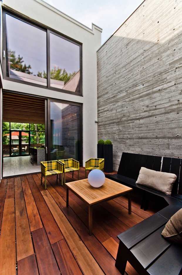 Дом с современным дизайном в Монреале, Канада - 23 фото