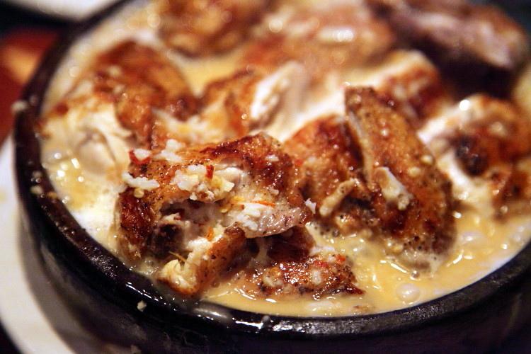 фото рецепт с молочно-чесночном соусе