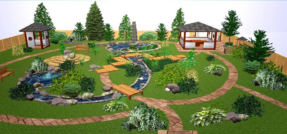 Ландшафтный дизайн детских садов своими руками