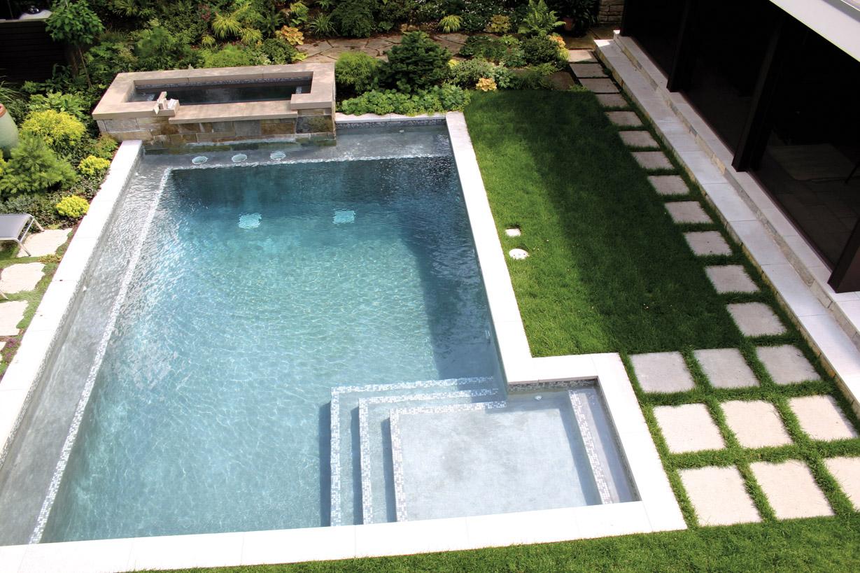 Ландшафтный дизайн бассейн