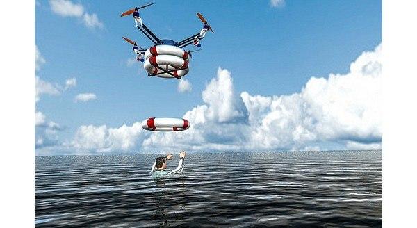 Исследователи RTS Lab создали робот-квадрокоптер для спасения утопающих