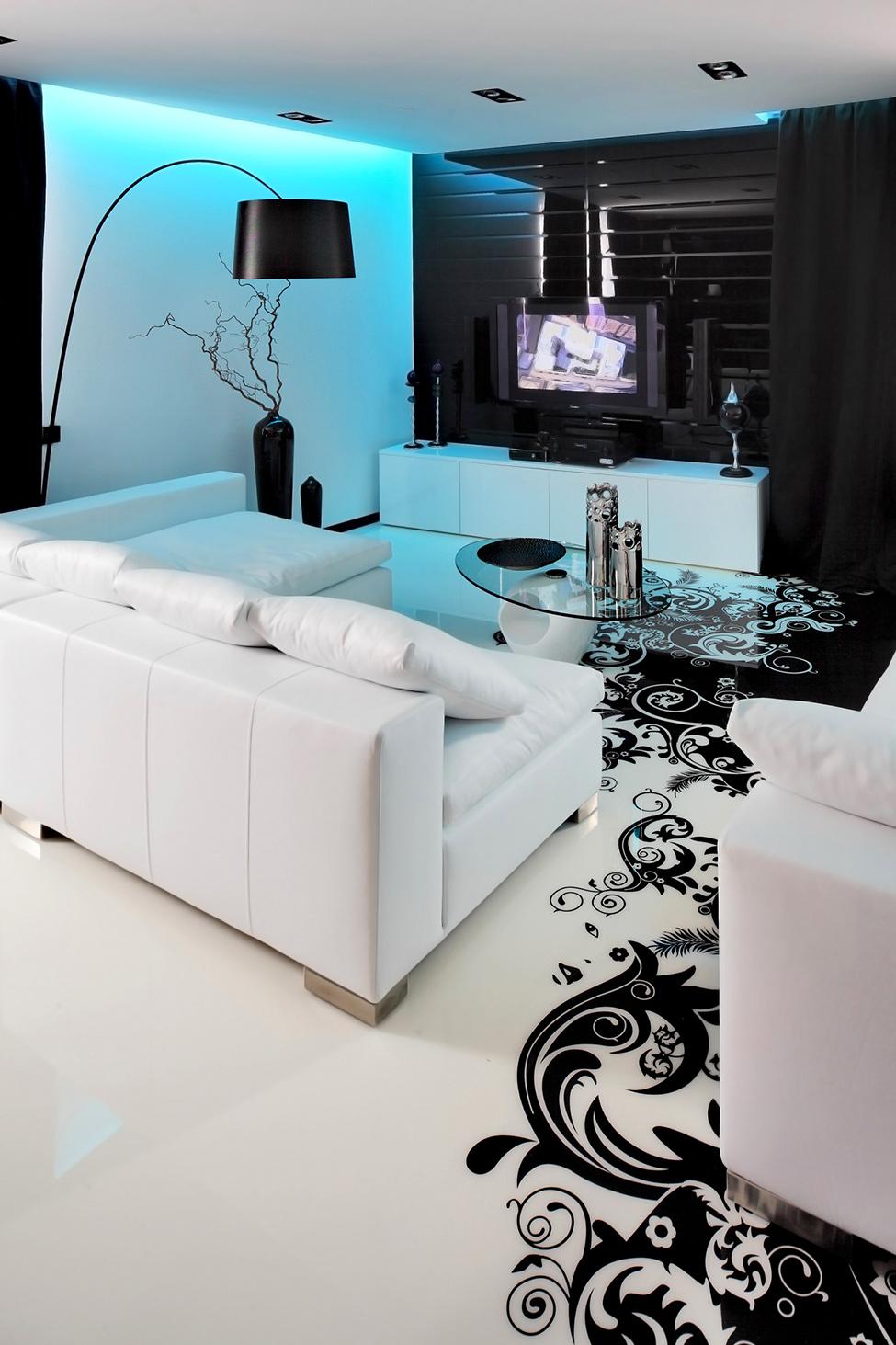 Дизайн черно белого в доме