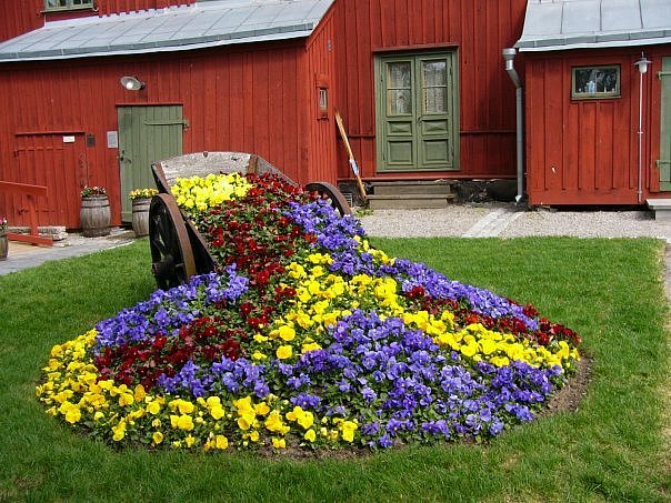 Регулярная цветочная клумба в саду - Идеи для сада - 13 фото