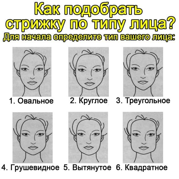Виды овалов лица причёски к ним