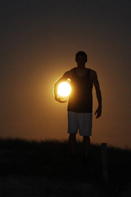 3 Идеи для фото с луной