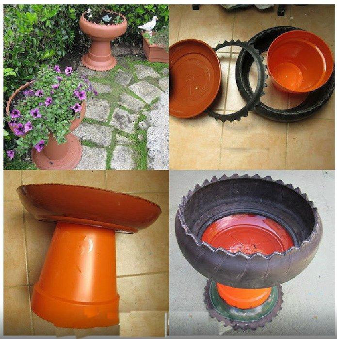 Садовые вазы своими руками из подручных материалов 92