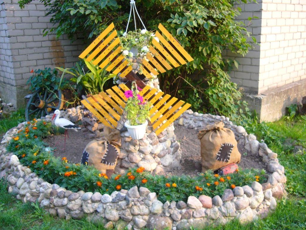 Дачные поделки своими руками для украшения сада фото из покрышек
