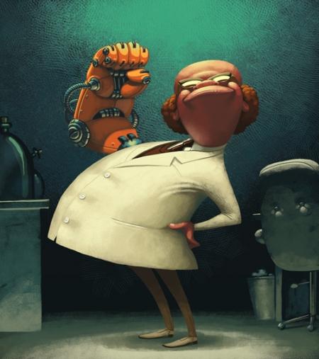 Иллюстратор Денис Зильбер и его игрушки