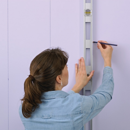 Оригинальная техника окраски стен ромбами