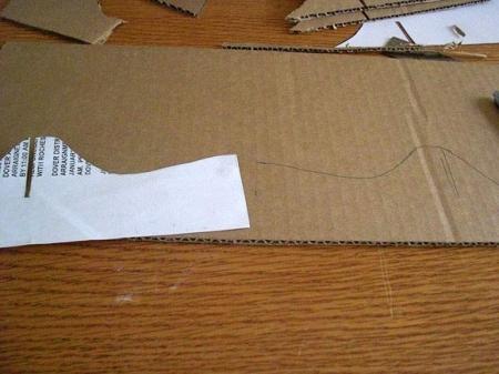 Подставка для ноутбука из картона.