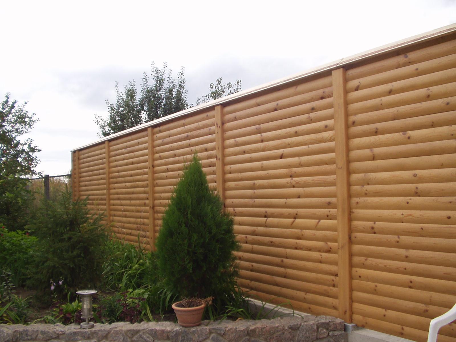 Забор из блок хауса фото 2