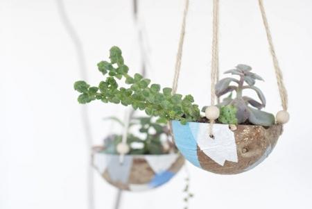 Подвесной горшочек из кокоса  для цветов  (мастер-класс)