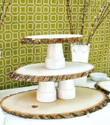 Многоярусный стенд для кексов из дерева своими руками