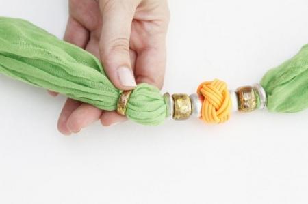 Украшаем шарфик своими руками (вторая жизнь)