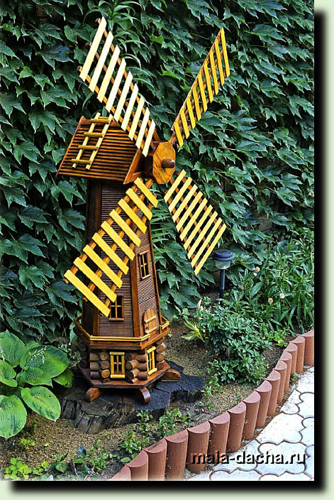 Декоративная мельница своими руками пошагово