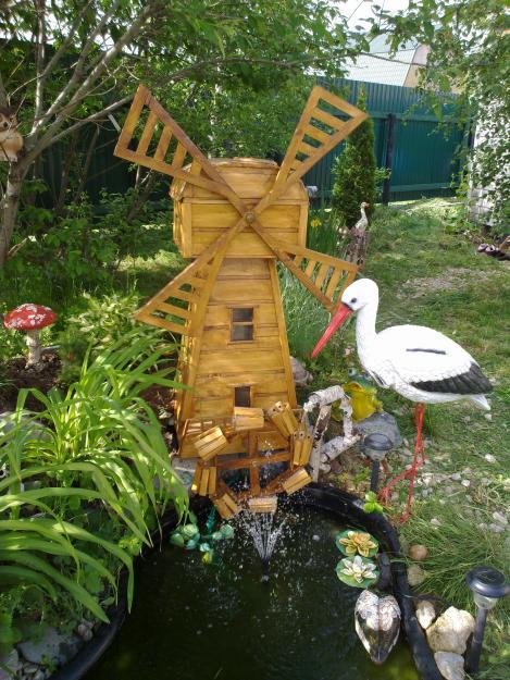 Сад своими руками украшение мельница