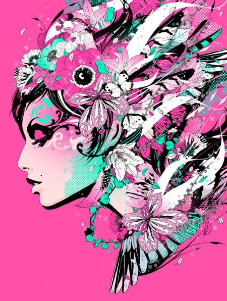 Иллюстрации японского графика Мэрумьян (Marumiyan)