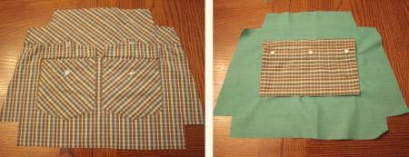 Сумка и кошелек из рубашки