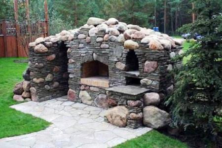Уличная печь в саду - Идеи для сада - 60 Фото