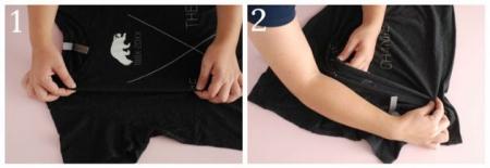 Как сложить одежду, чтобы она занимала меньше места в шкафу